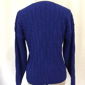 Talbots Sweaters - TALBOTS CABLE KNIT SWEATER SIZE MEDIUM